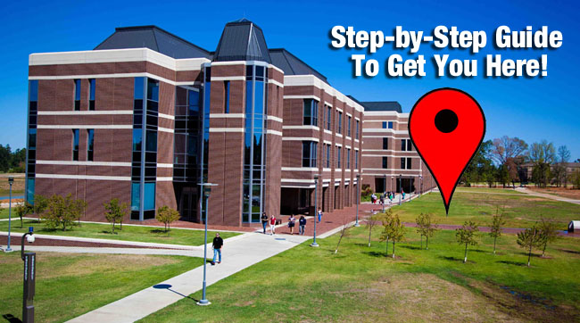Campus image and link to student guide